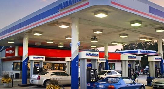 Une station essence.
