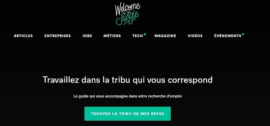 Le site Welcome to the Jungle.