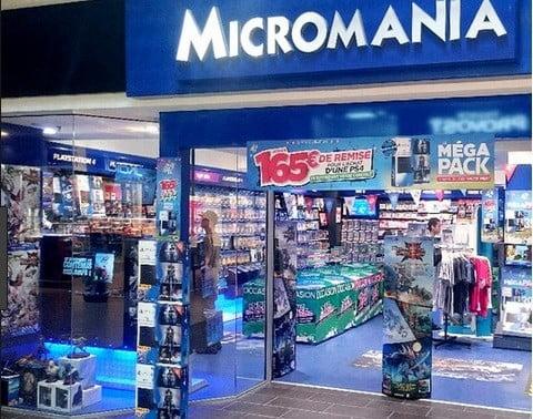 Un magasin Micromania