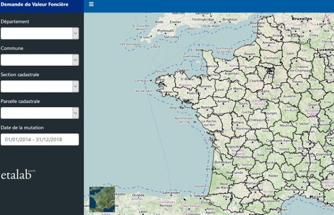 Le site app.dvf.etalab.gouv.fr