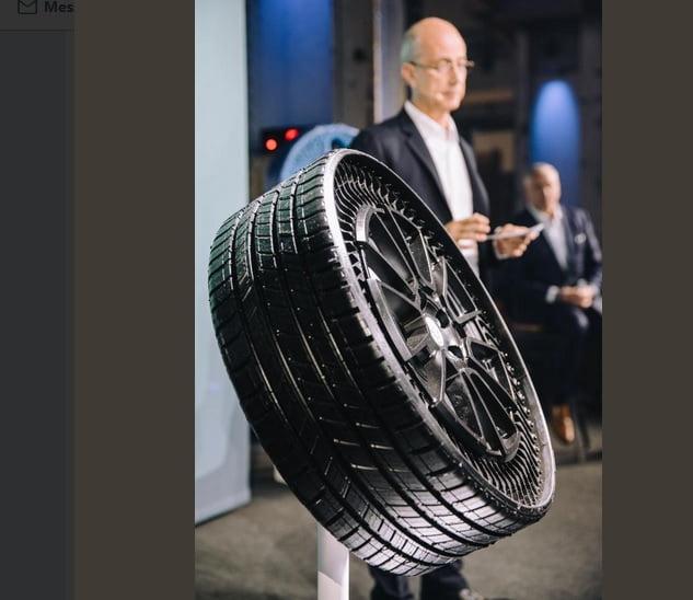 Le nouveau pneu Uptis