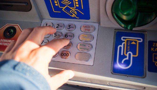 Un distributeur de banque