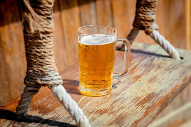 Un verre de bière, image d'illustration