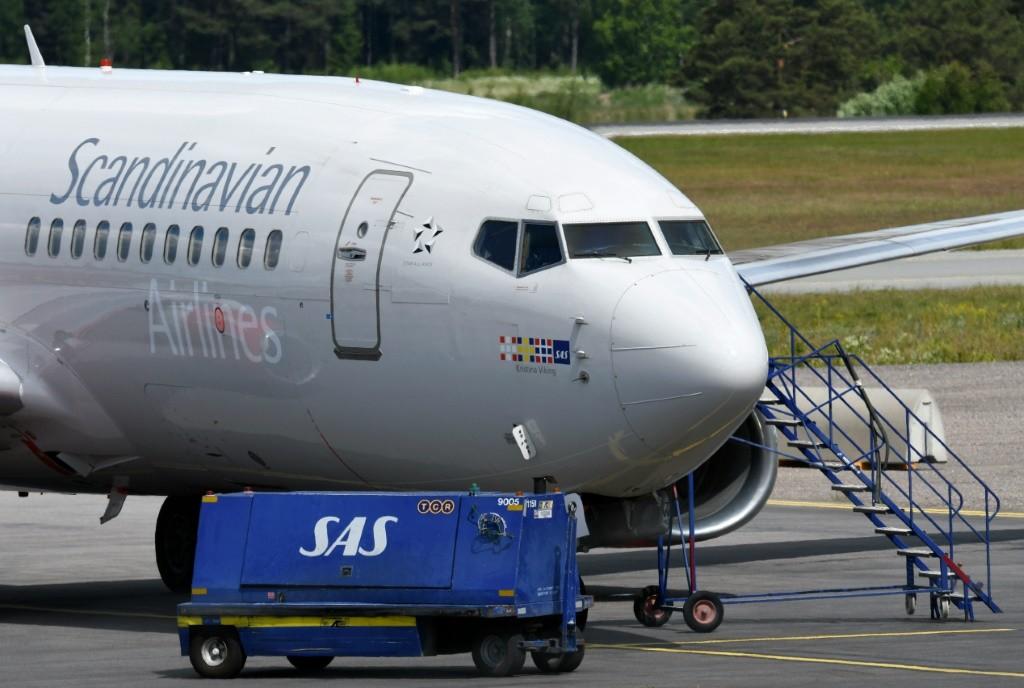 Un Boeing 737 de la compagnie scandinave SAS à l'aéroport Arlanda de Stockholm, le 13 juin 2016
