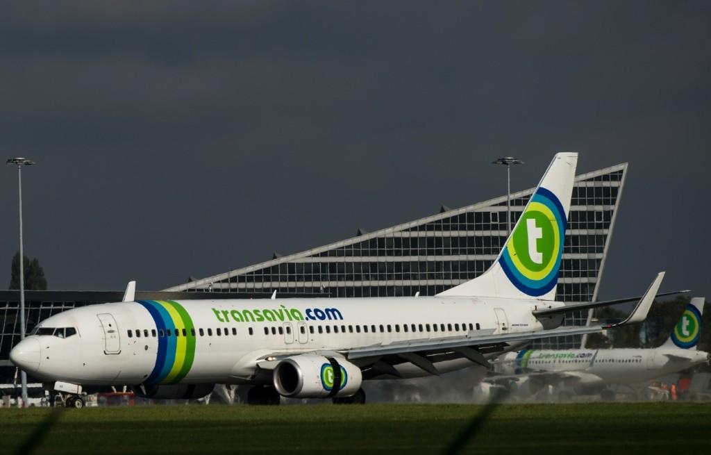 Un Airbus A320 de la compagnie Transavia le 11 octobre 2014 à l'aéroport de Lille-Lesquin