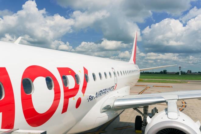 Photo d'illustration. Un avion HOP! d'Air France
