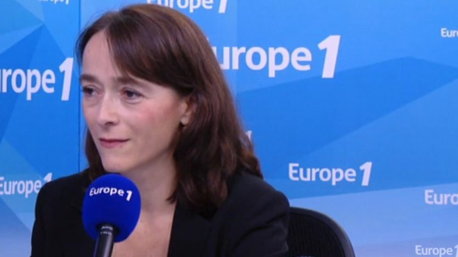 La présidente de France Télévisions Delphine Ernotte, le 23 septembre 2015 sur le plateau d'Europe1