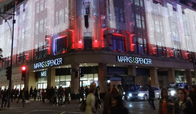 Une enseigne Marks and Spencer