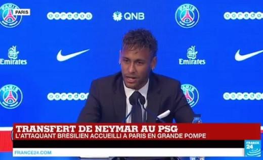 Neymar sur France24