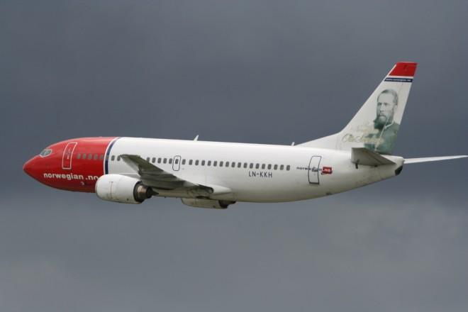 Un avion de la compagnie Norwegian