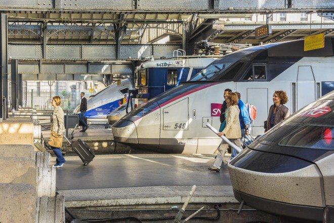 Des TGV en gare de l'Est à Paris